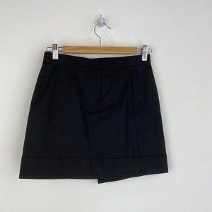 CLUB MONACO Button Fly Black Mini Skirt NWT